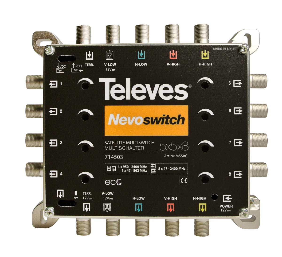 714403 TELEVES MSW NEVOSWITCH 5x5x8 QUAD